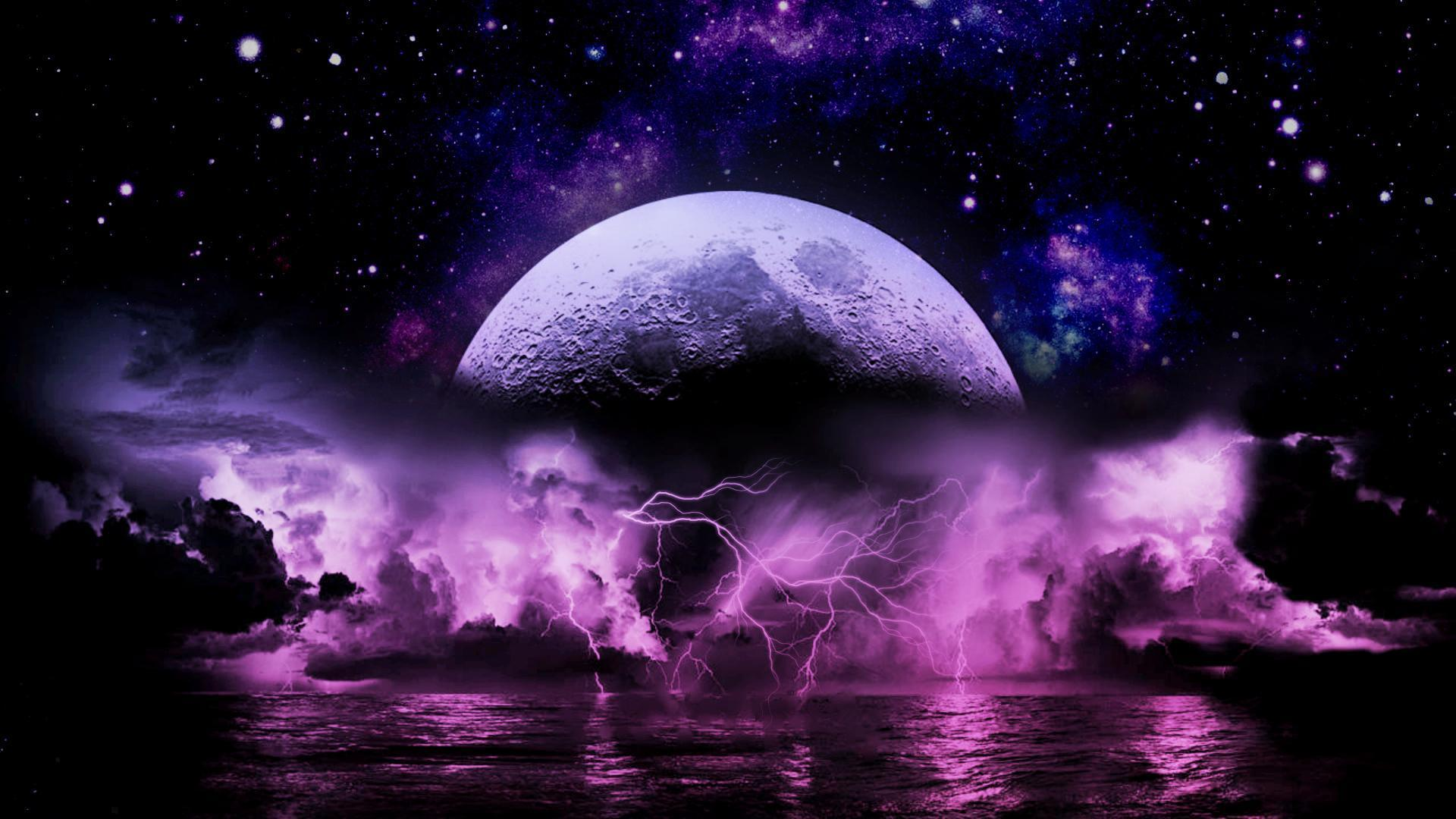 Wallpapers For Purple Lightning Storm Wallpaper