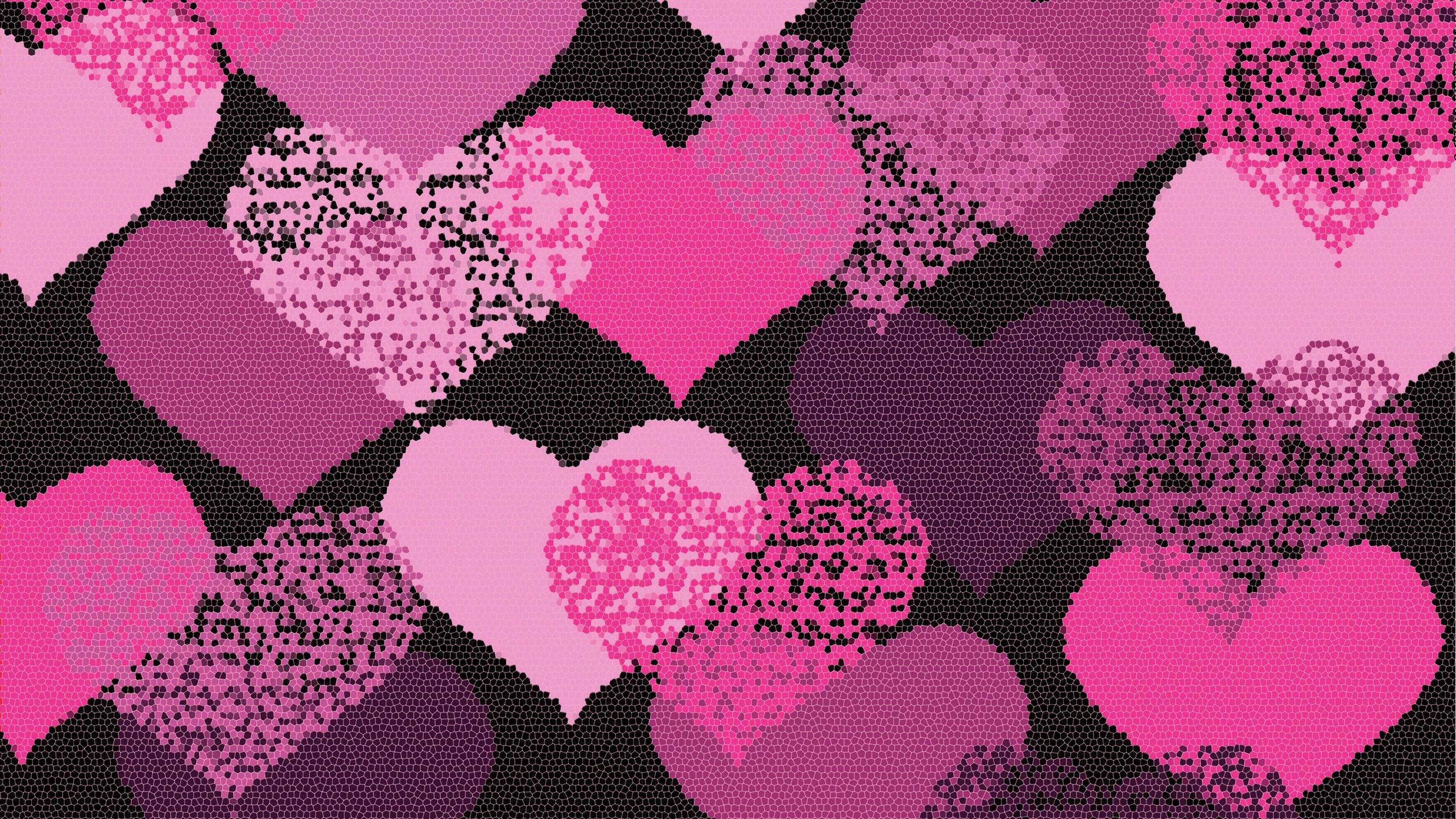 pink stars hearts wallpaper - photo #34