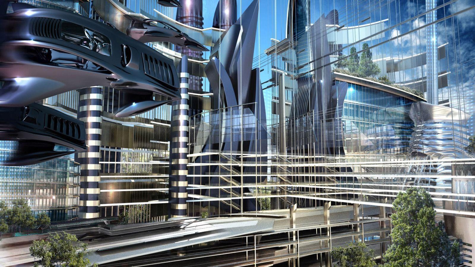 Futuristic Architecture widescreen wallpaper   Wide-