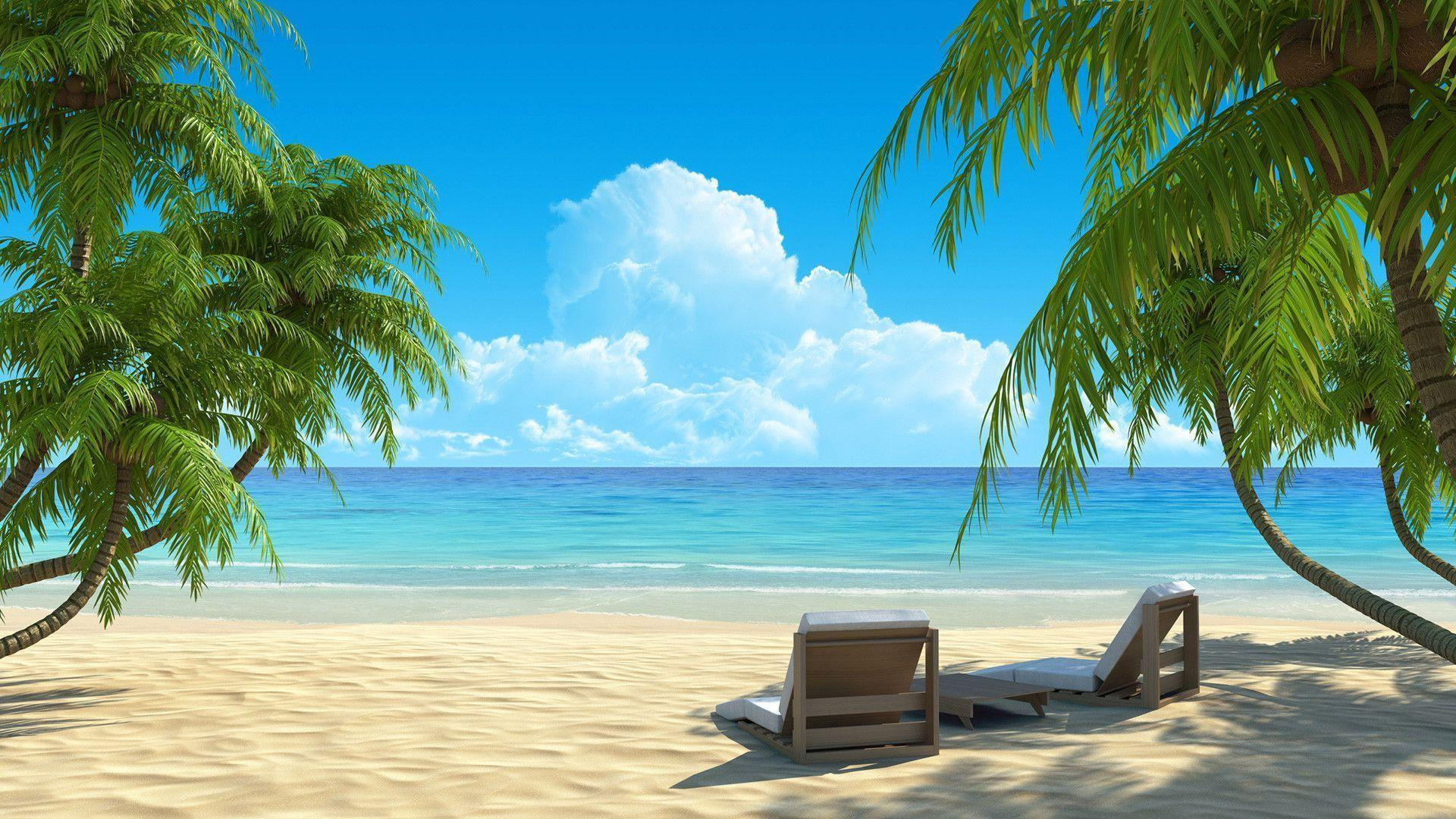 Delightful Wallpapers For U003e Summer Beach Paradise Wallpaper