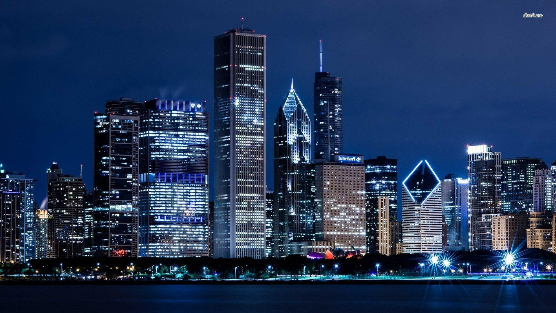 Chicago Skyline Backgrounds Wallpaper