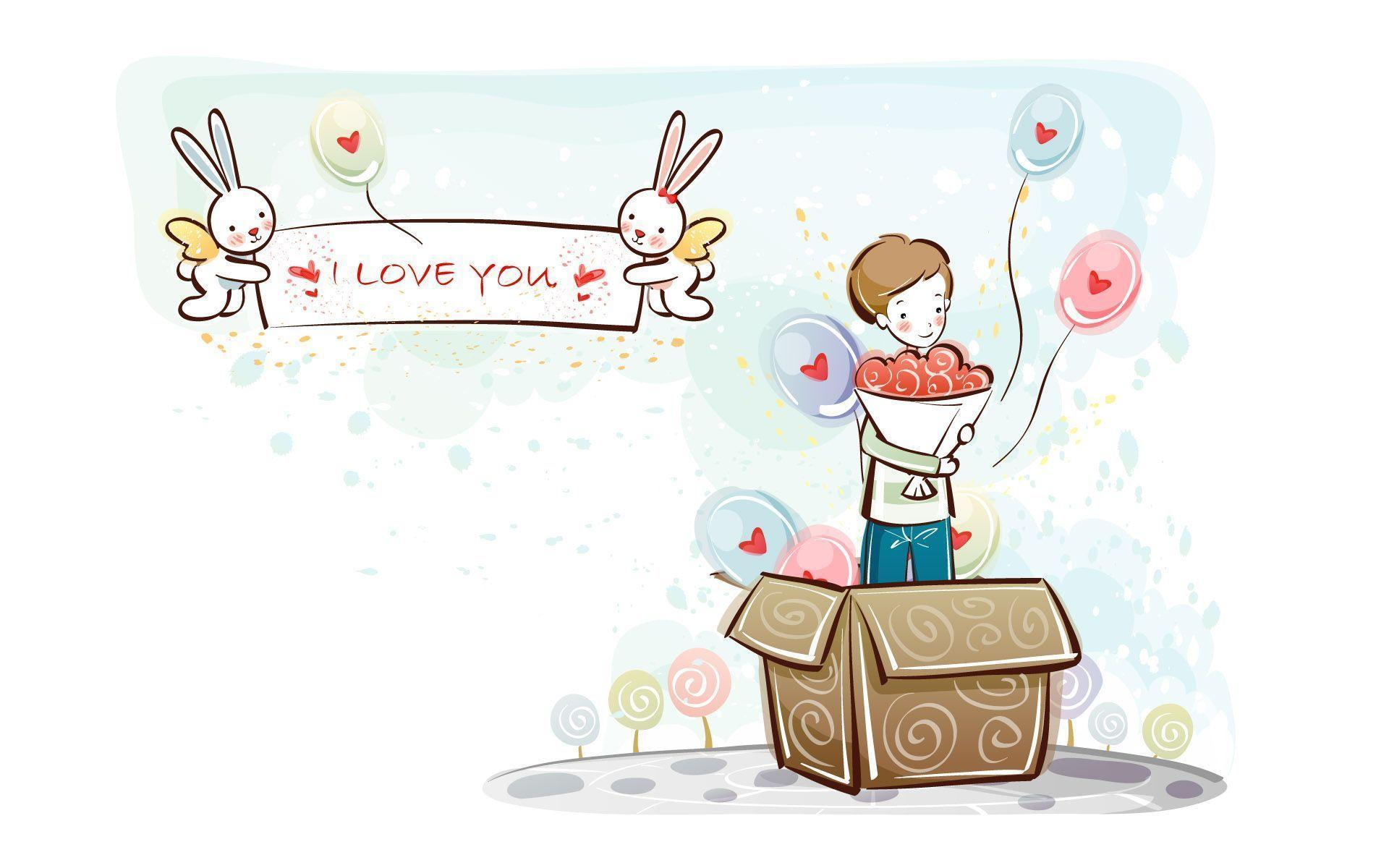 Wallpaper Of cute Love cartoon : Image Gallery love couple cartoon wallpaper