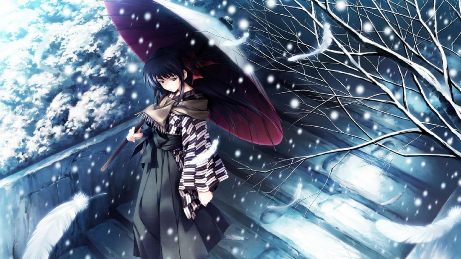 Winter Anime Wallpapers - Wallpaper Cave