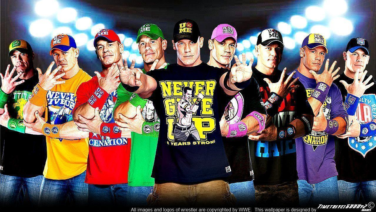 Wwe John Cena Multi Color Wallpapers Widescreen V3 By