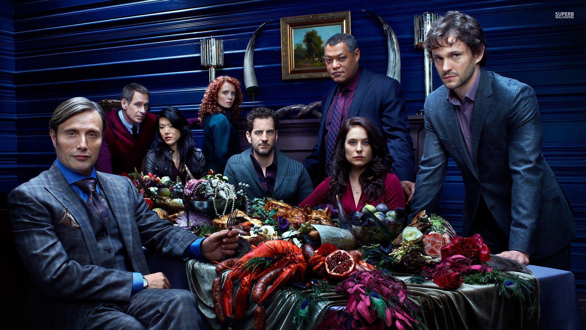 Hannibal Series Cast Wallpaper