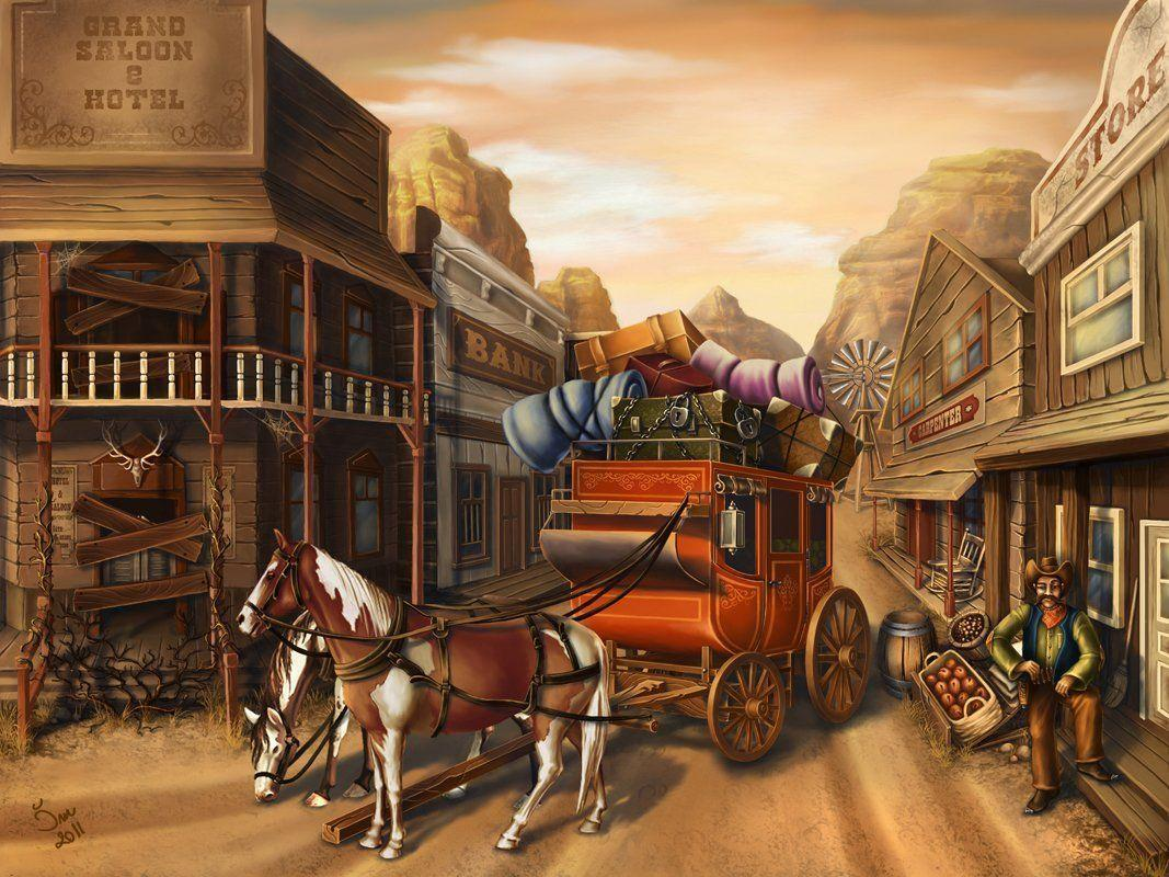 painting wallpaper western - photo #14