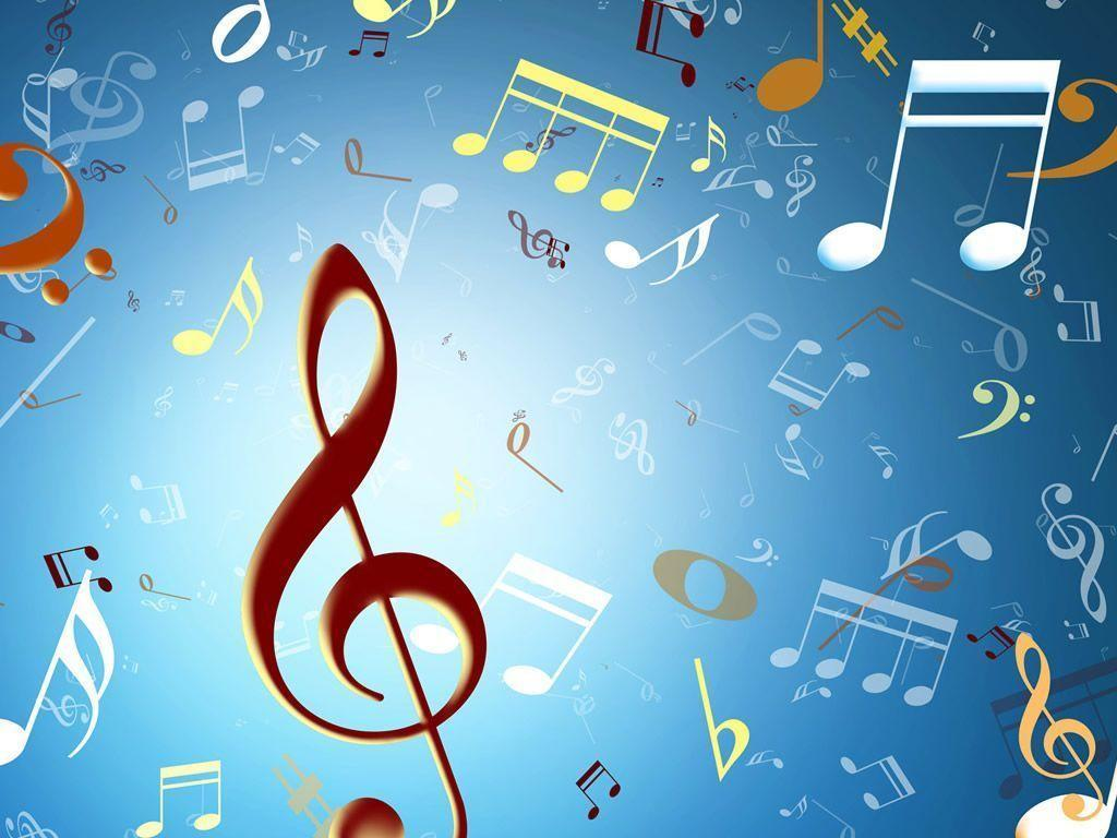 Wallpapers For > Musical Notes Backgrounds Blue