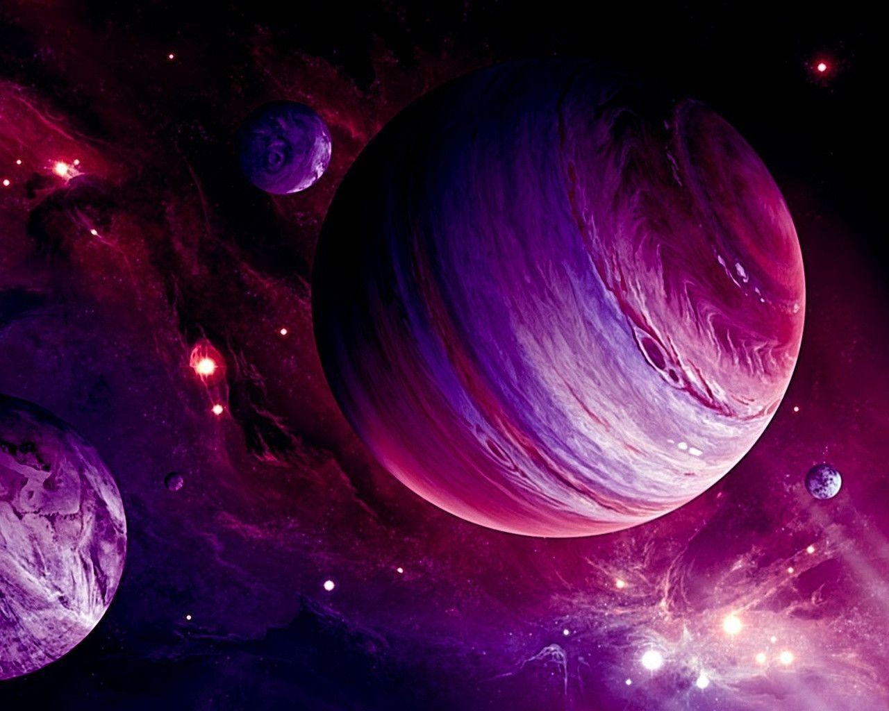 pink planet images - HD 1280×1024