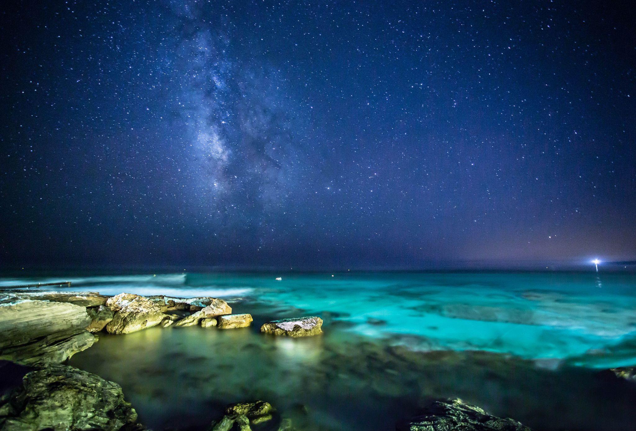 wallpaper night stars milky - photo #29