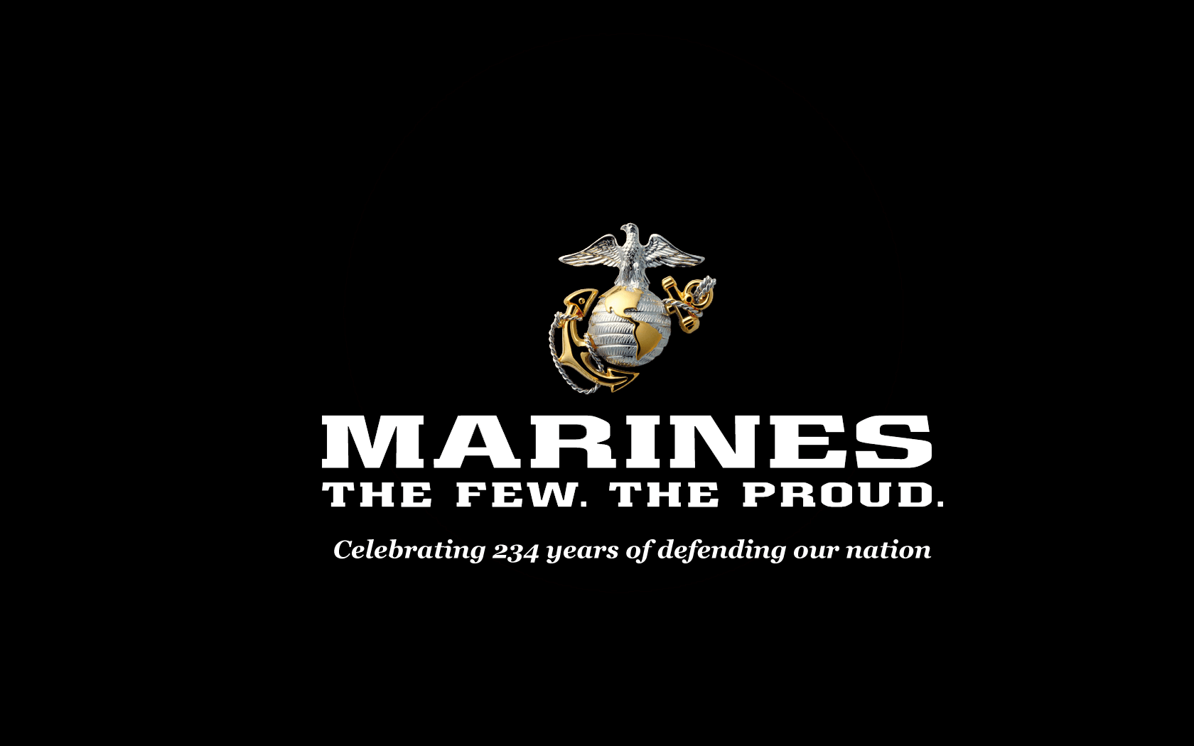 Large Marine Corps Ring with black background