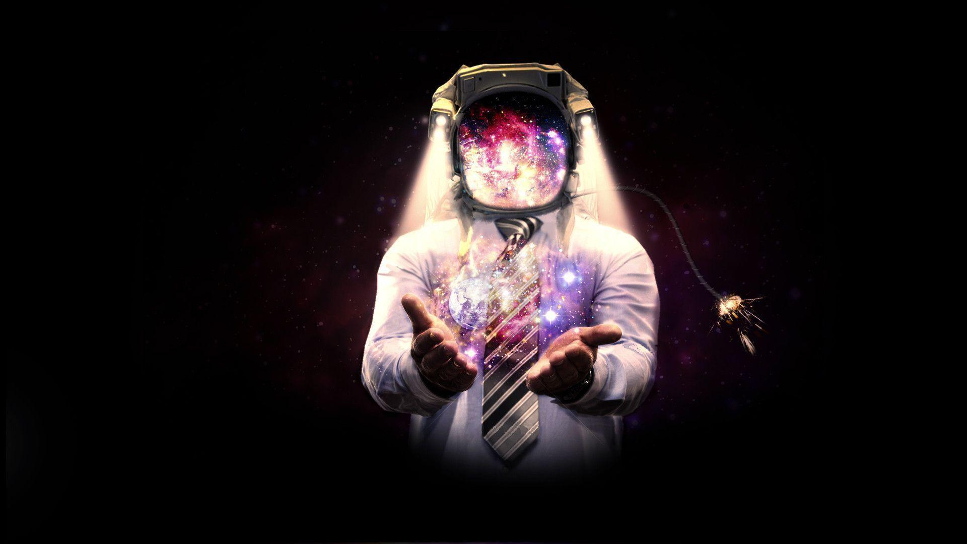 wallpapers trippy astronaut surfer - photo #15