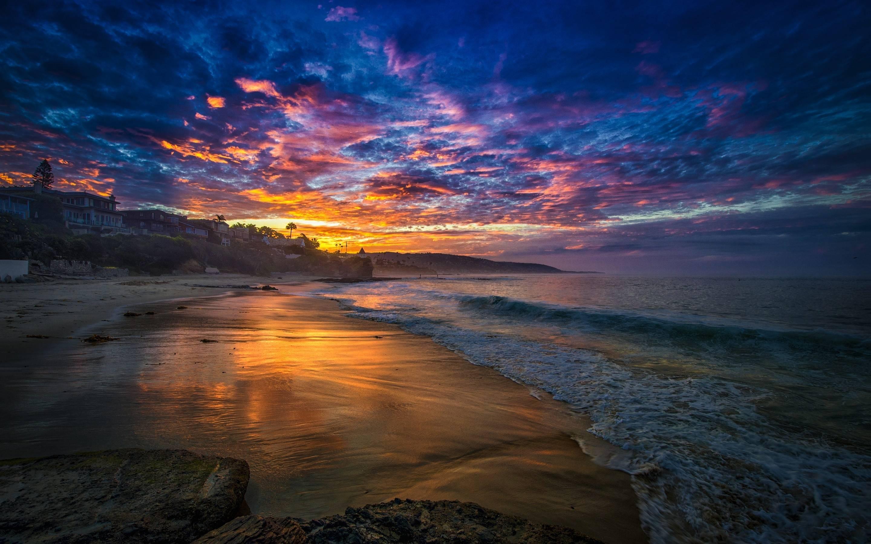 Beach Desktop Wallpaper Widescreen: Beach Sunset Desktop Wallpapers