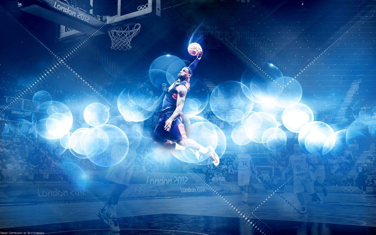 LeBron James 2012 Olympics Dunk vs Tunisia Wallpapers