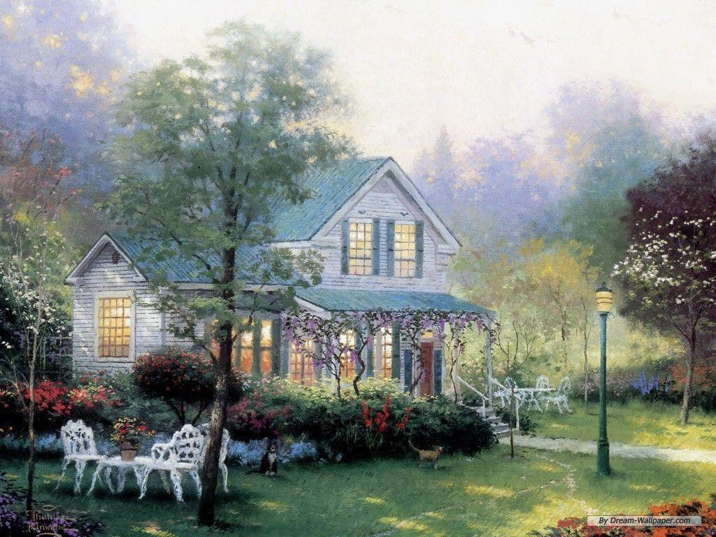 Free thomas kinkade wallpapers for desktop wallpaper cave for Home wallpaper view