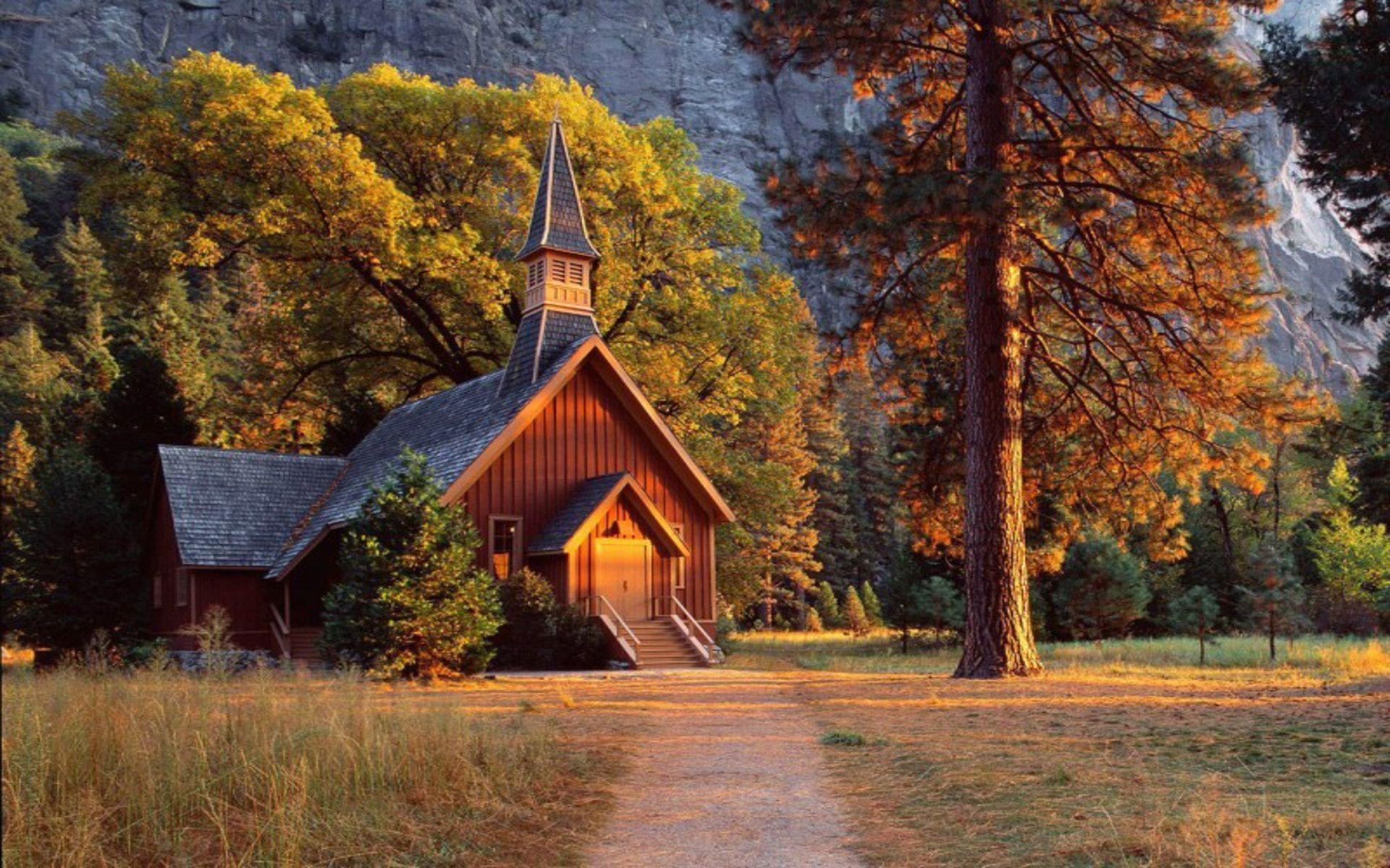 Church Landscapes Forests free backgrounds