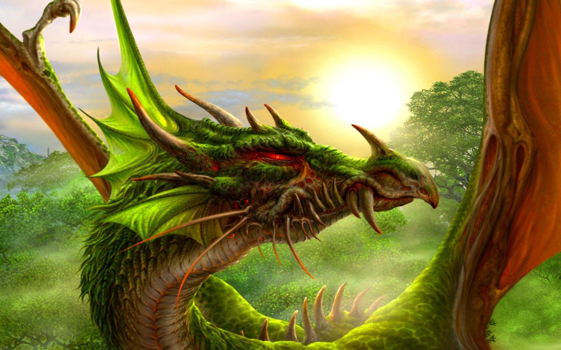 Earth Dragon: Green Dragon Wallpapers