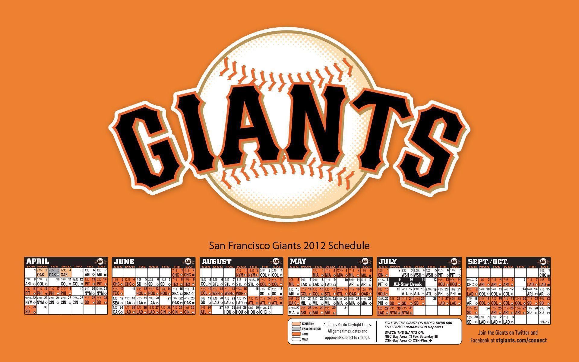 Sf giants 2015 schedule wallpapers wallpaper cave - Sf giants schedule wallpaper ...