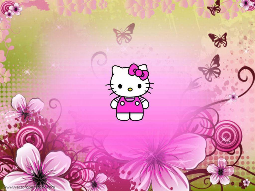 Gambar Wallpaper Hello Kitty Warna Pink Kampung Wallpaper