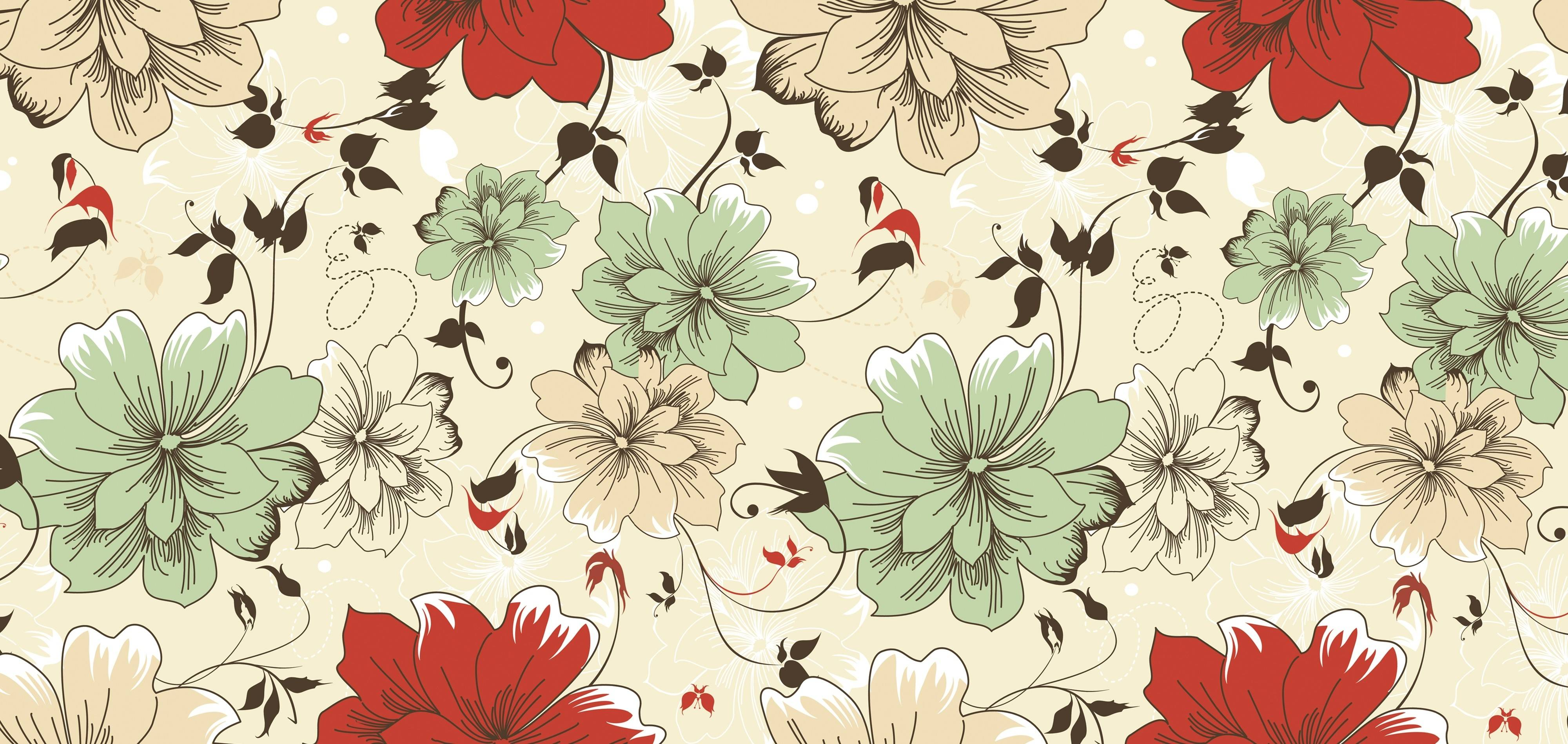 Flower Pattern Desktop Wallpaper HD Wallpapers Patterns