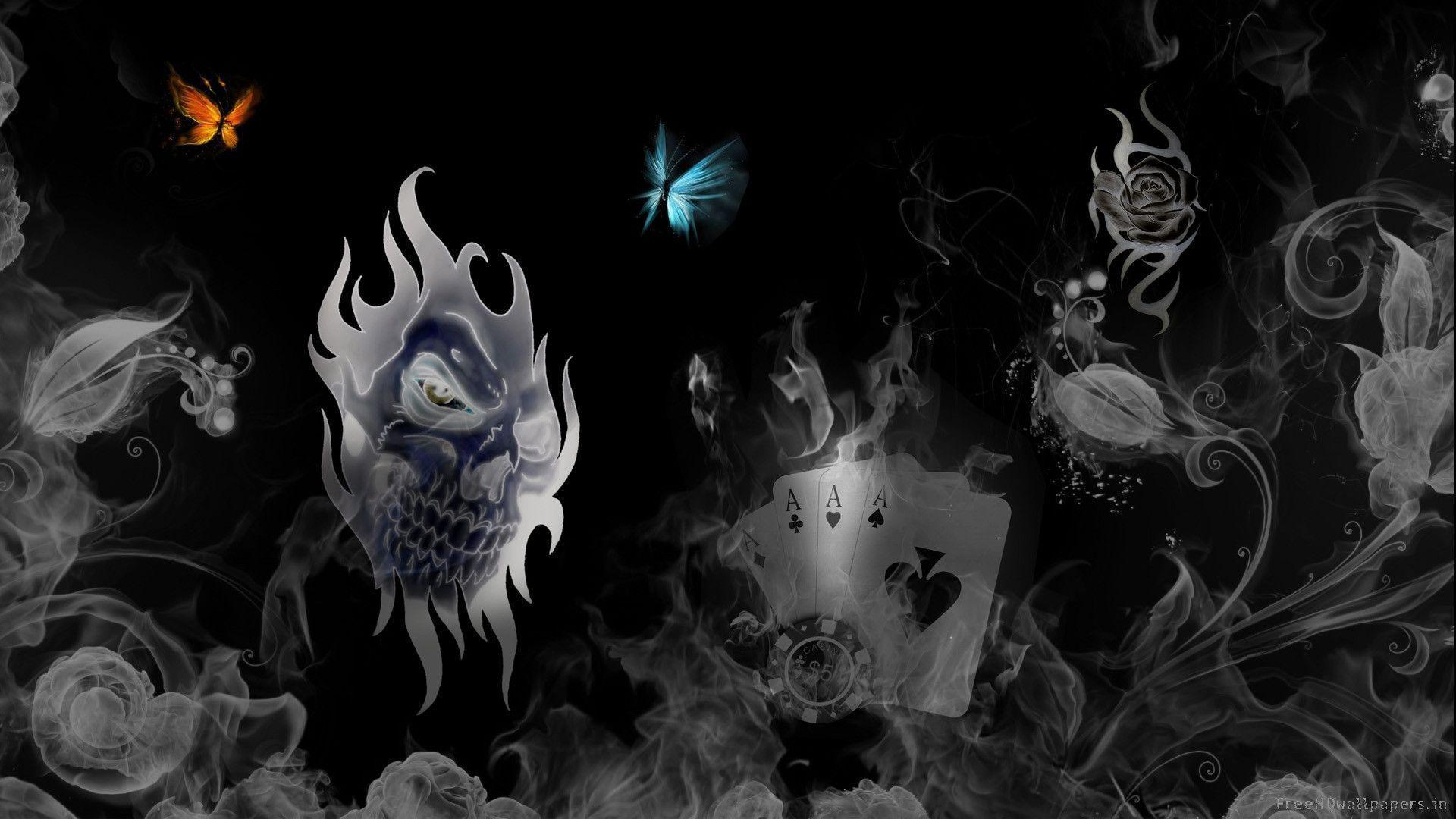 Skull On Fire Wallpaper Free Download