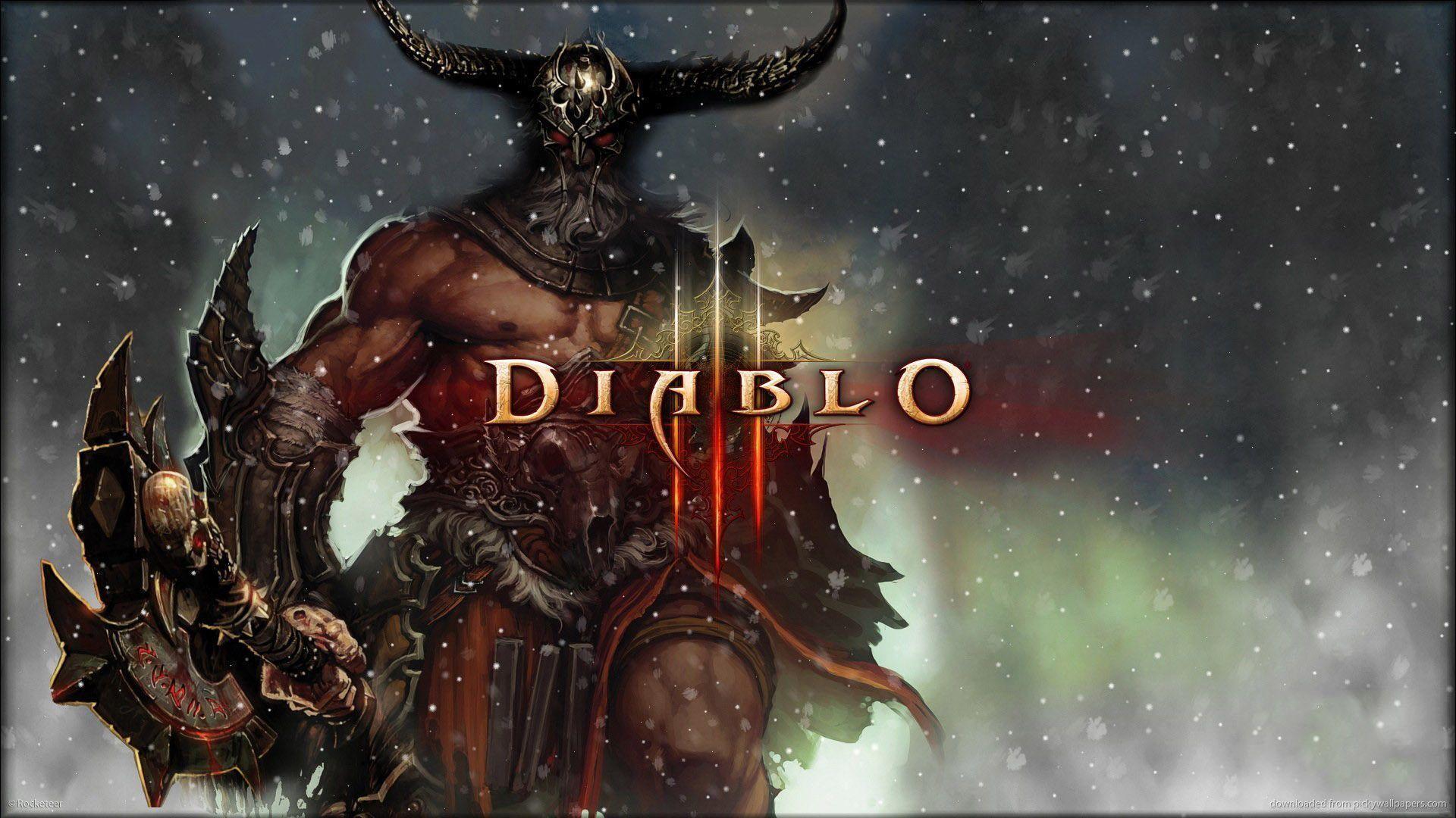 Download 1920x1080 Diablo 3 Snow Barbarian Wallpaper