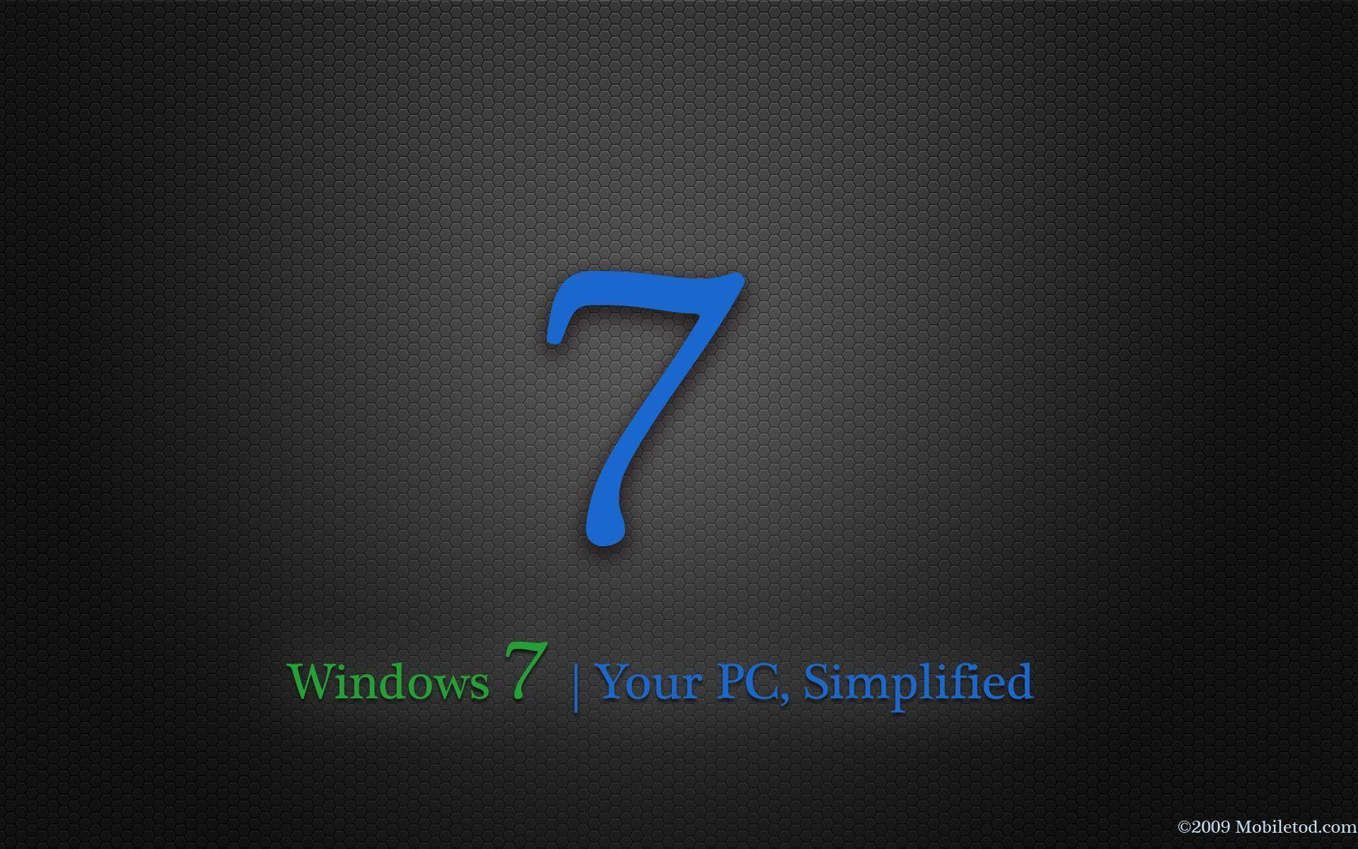 Windows Dark 7 wallpapers