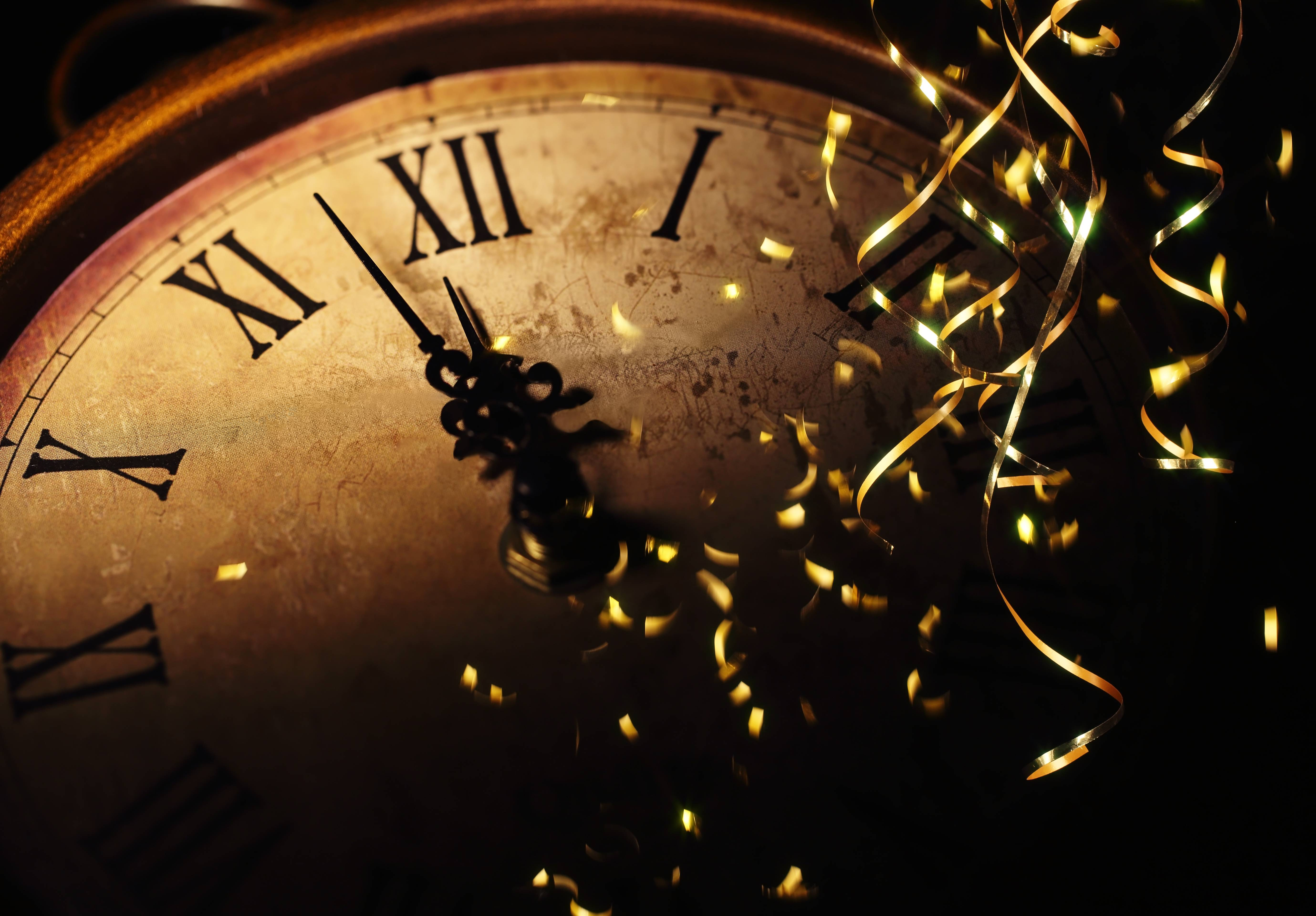 New Year&Eve Glitter Clock Holidays Time hd wallpapers #