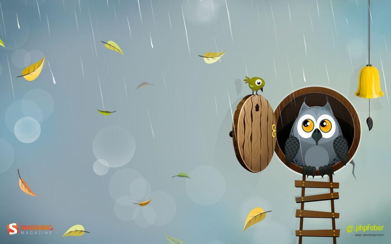 cute owl fall themed wallpapers -#main