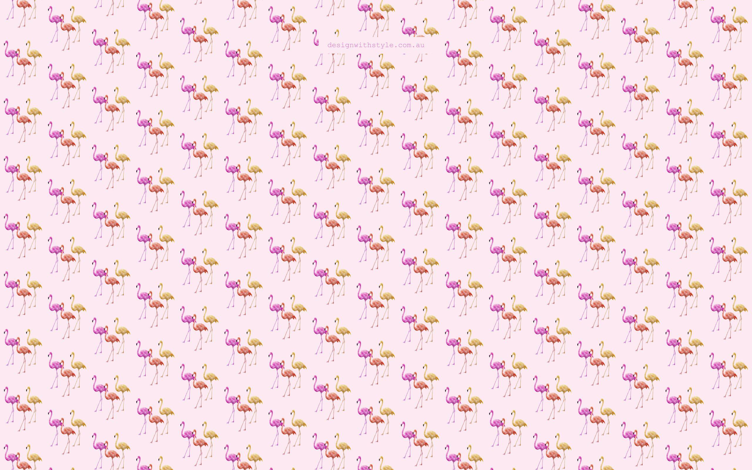 Image For > Retro Flamingo Wallpapers
