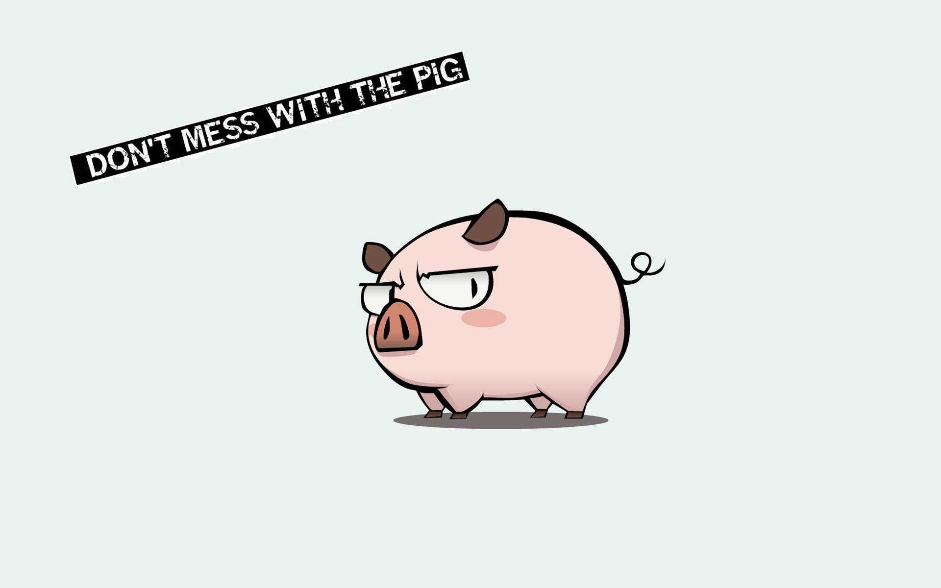 cute pigs cartoon wallpaper - photo #2