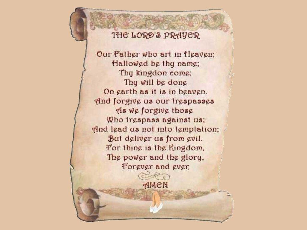 the lords prayer on a scroll