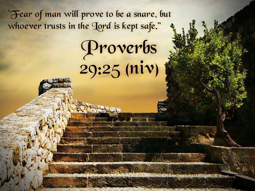Proverbs 2925 Bible Verse HD Wallpaper