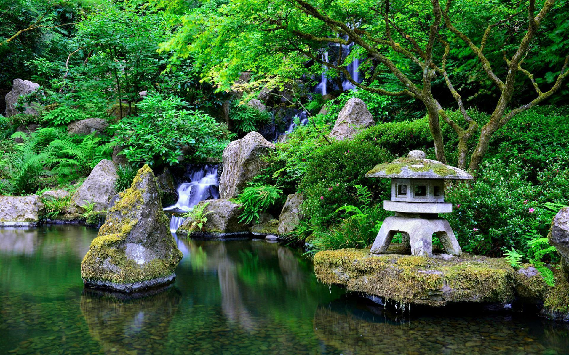 Japanese Garden Wallpaper Night Ideas Amazing 3 Design