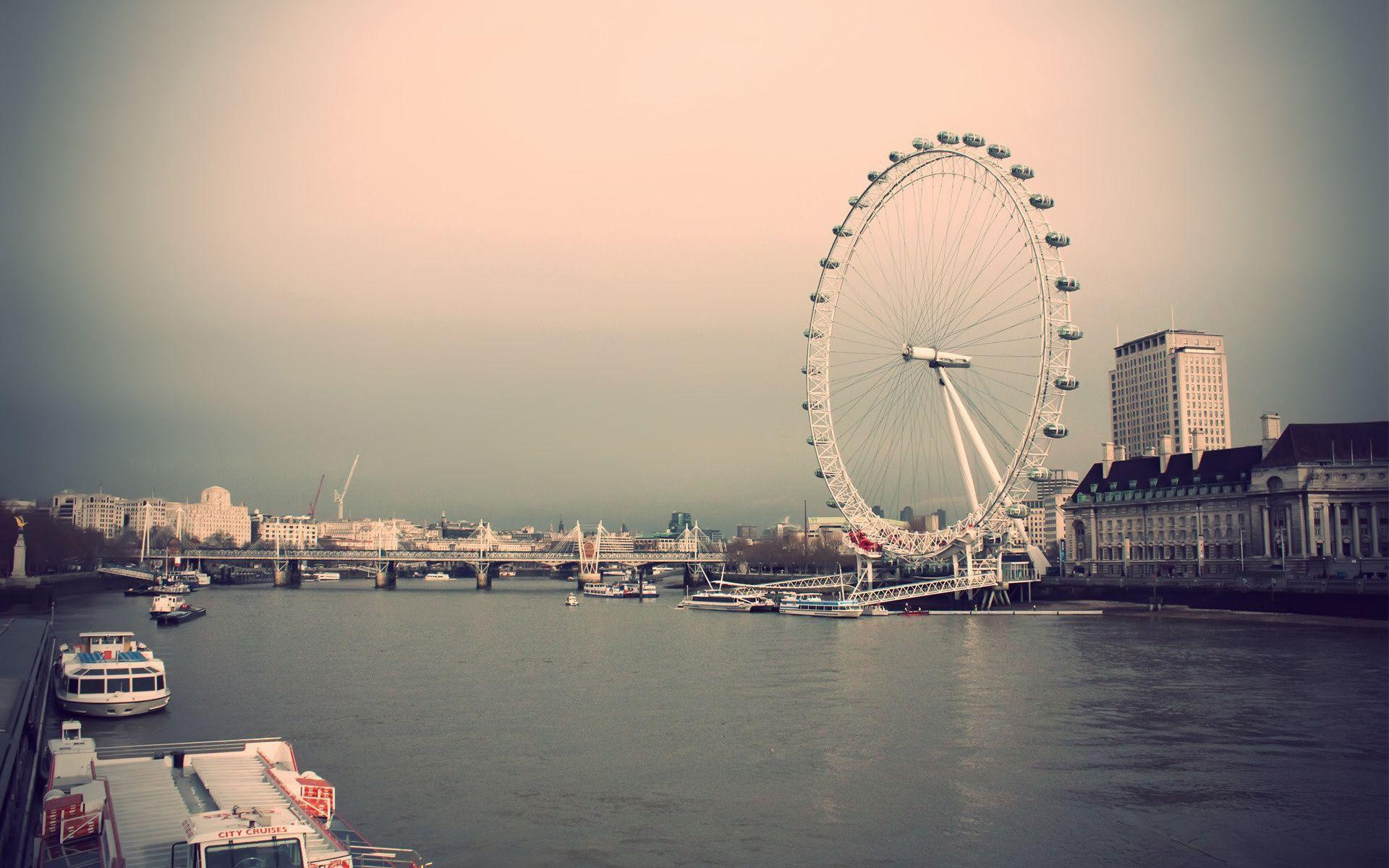 London Eye, River Thames And Tower Bridge HD Wallpapers
