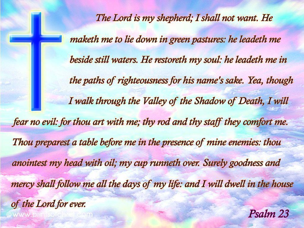 Psalm 23 wallpaper niv