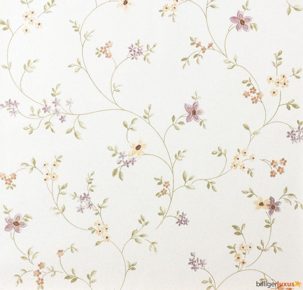 Cottage style wallpaper Fleuri Pastel A.S. 93770-1 937701 vines ...