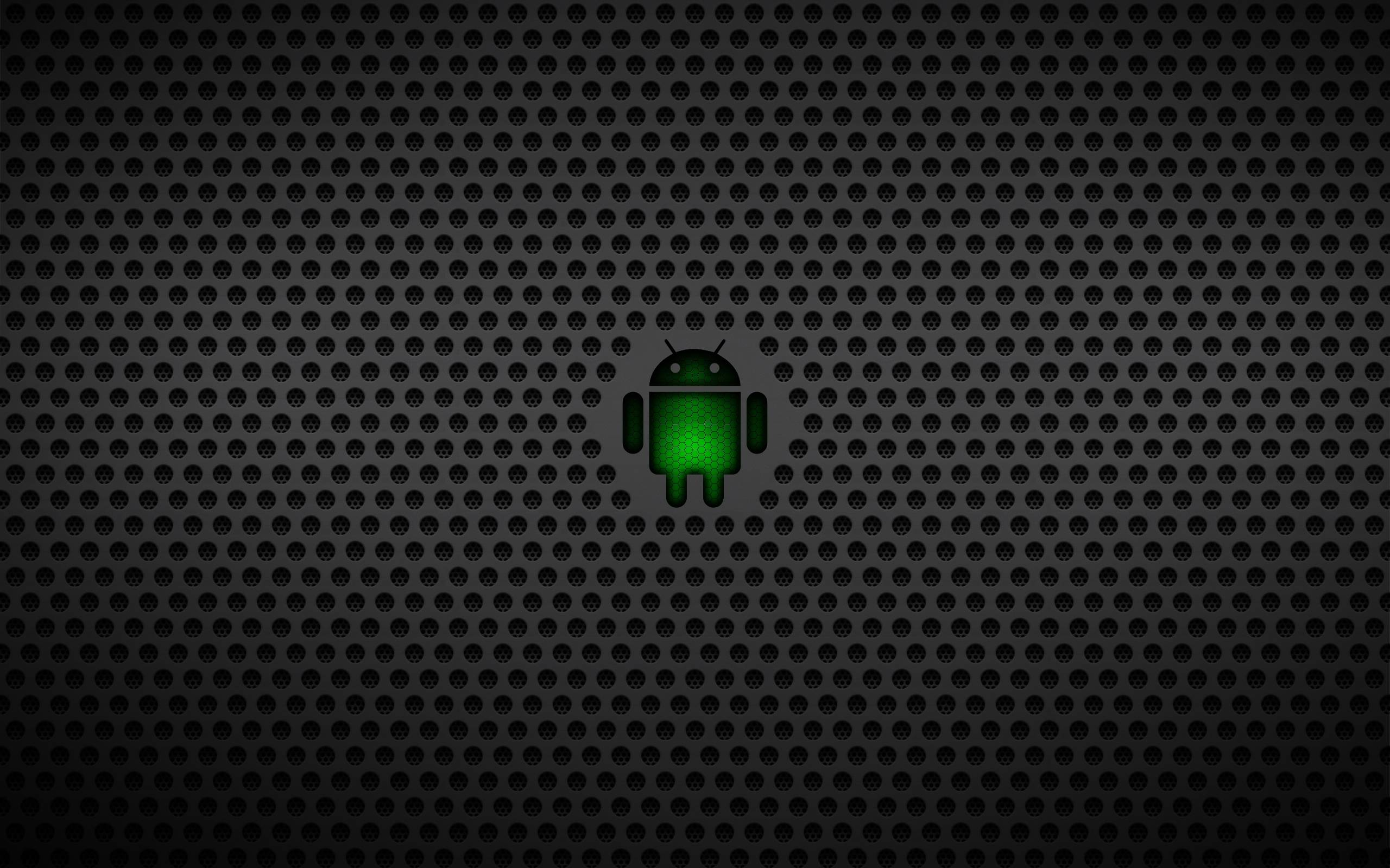 android operating system green black mesh wallpaper