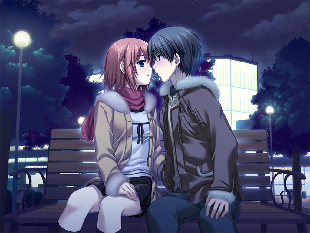 Love Kiss Wallpaper cartoon : Romantic Anime Wallpapers - Wallpaper cave