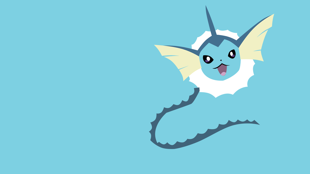 Vaporeon minimalistic wallpapers by Browniehooves