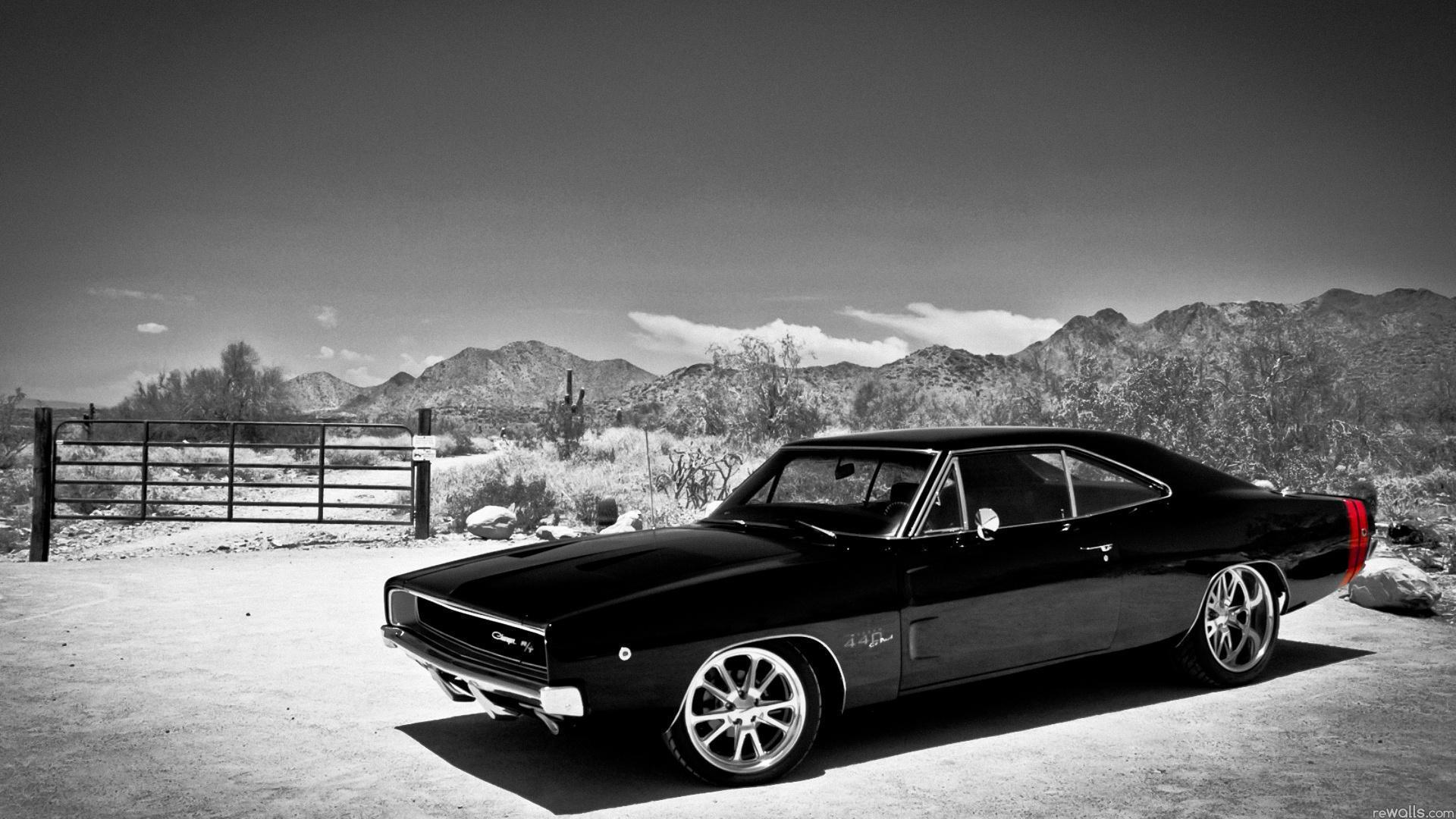 Free muscle car wallpapers wallpaper cave - Car wallpaper black and white ...