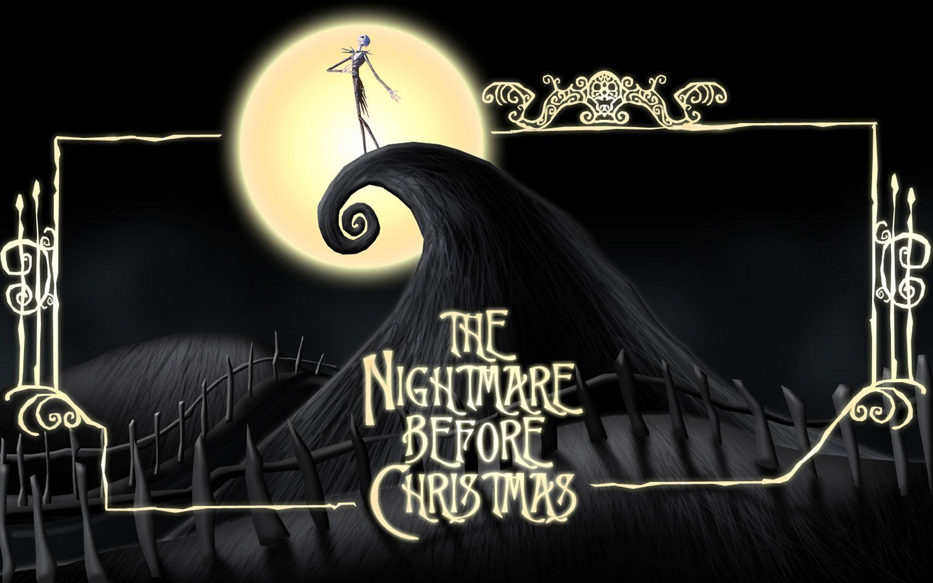 It's just a picture of Invaluable The Nightmare Before Christmas Logo