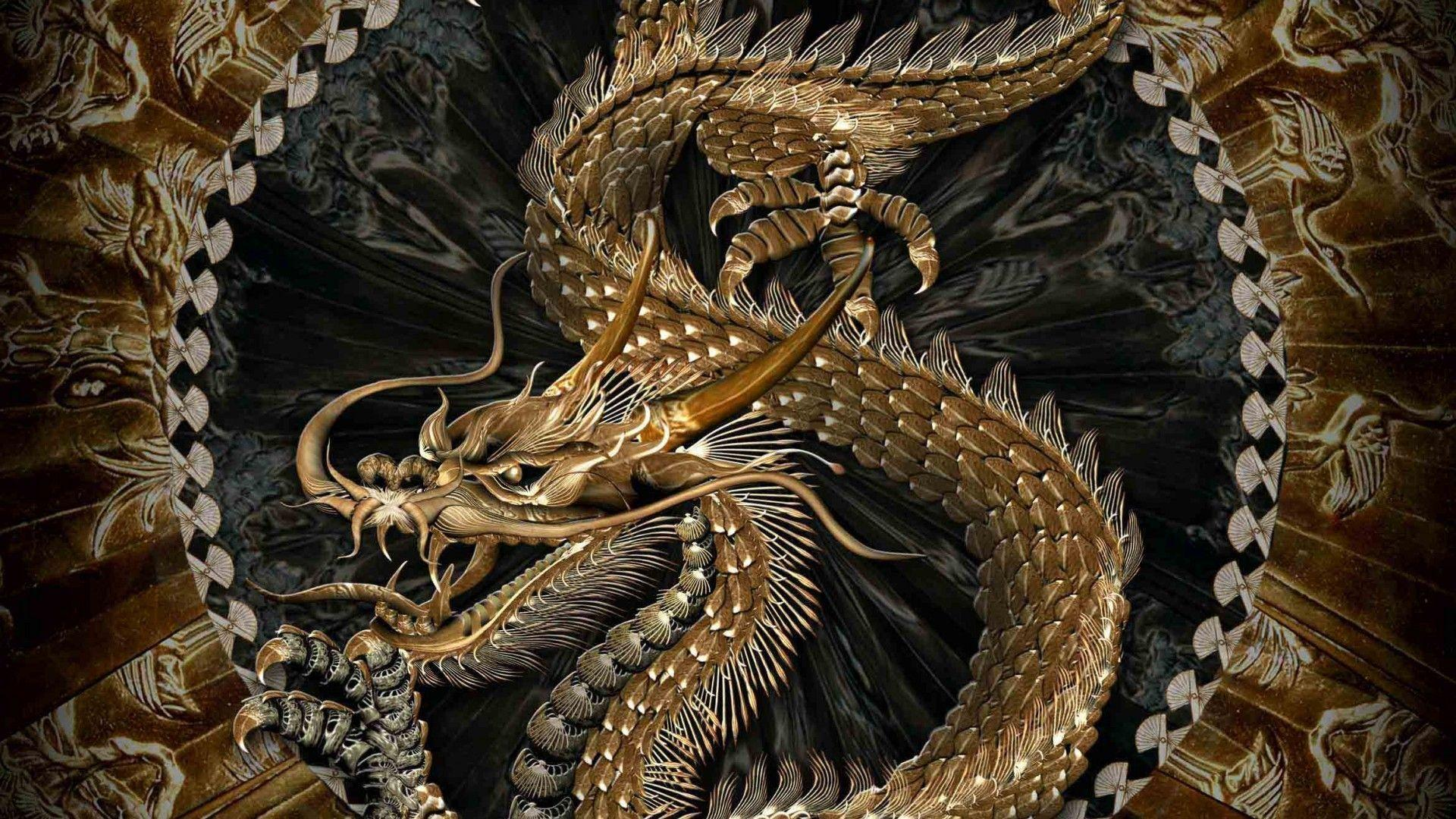 gold dragons wallpaper - photo #33