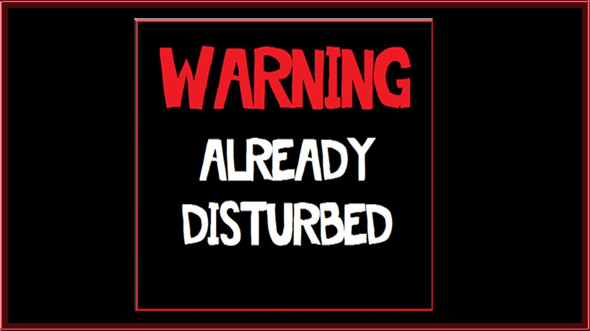 text warning black background - photo #16