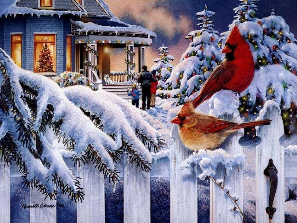 christmas scene desktop wallpapers 2015