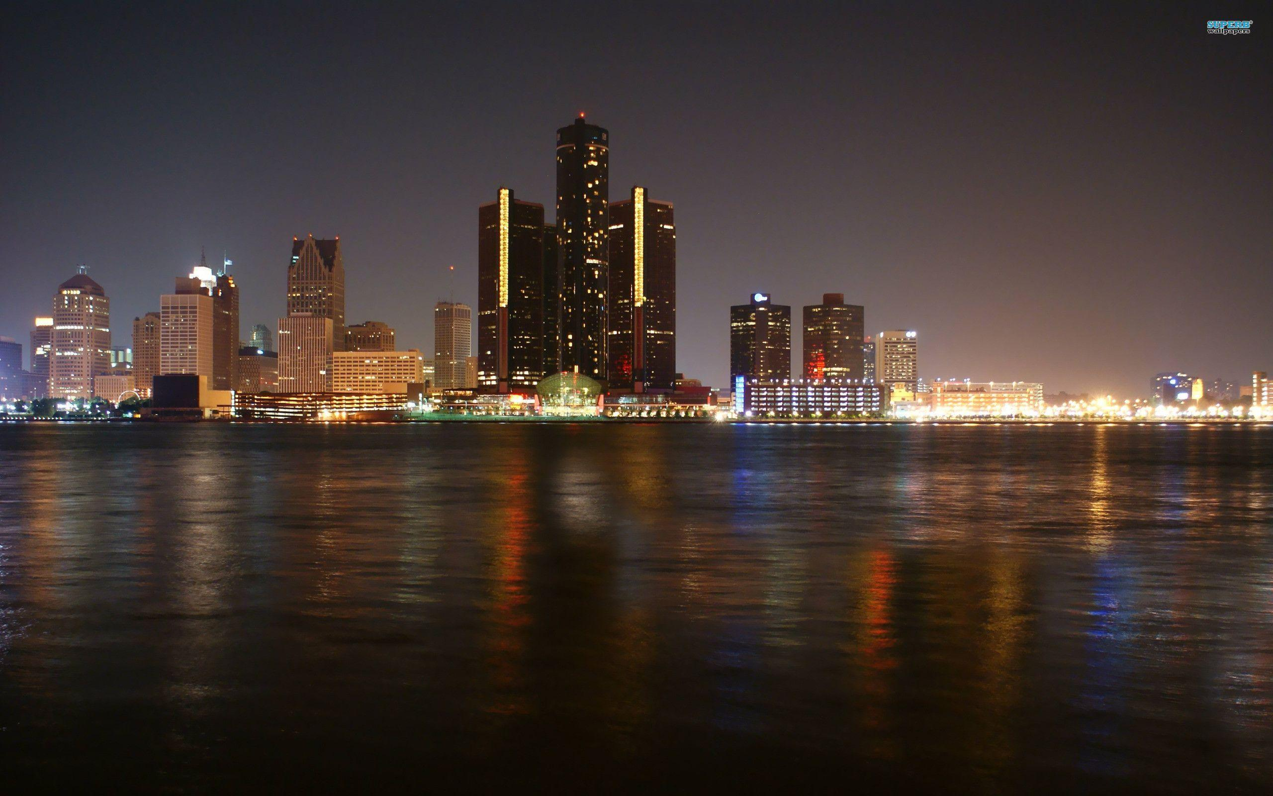 View Wallpaper High Resolution Detroit Skyline Pictures