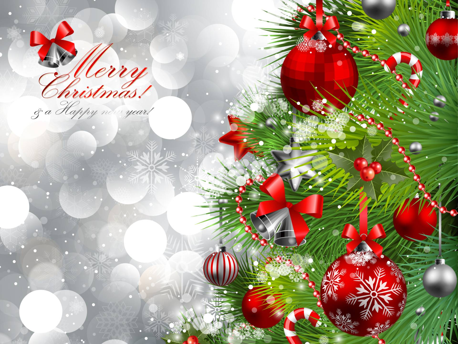 Animated Merry Christmas Desktop HD Wallpaper