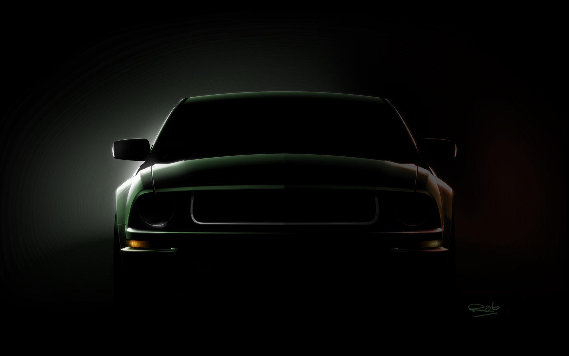 Mustang logo wallpaper black - photo#1