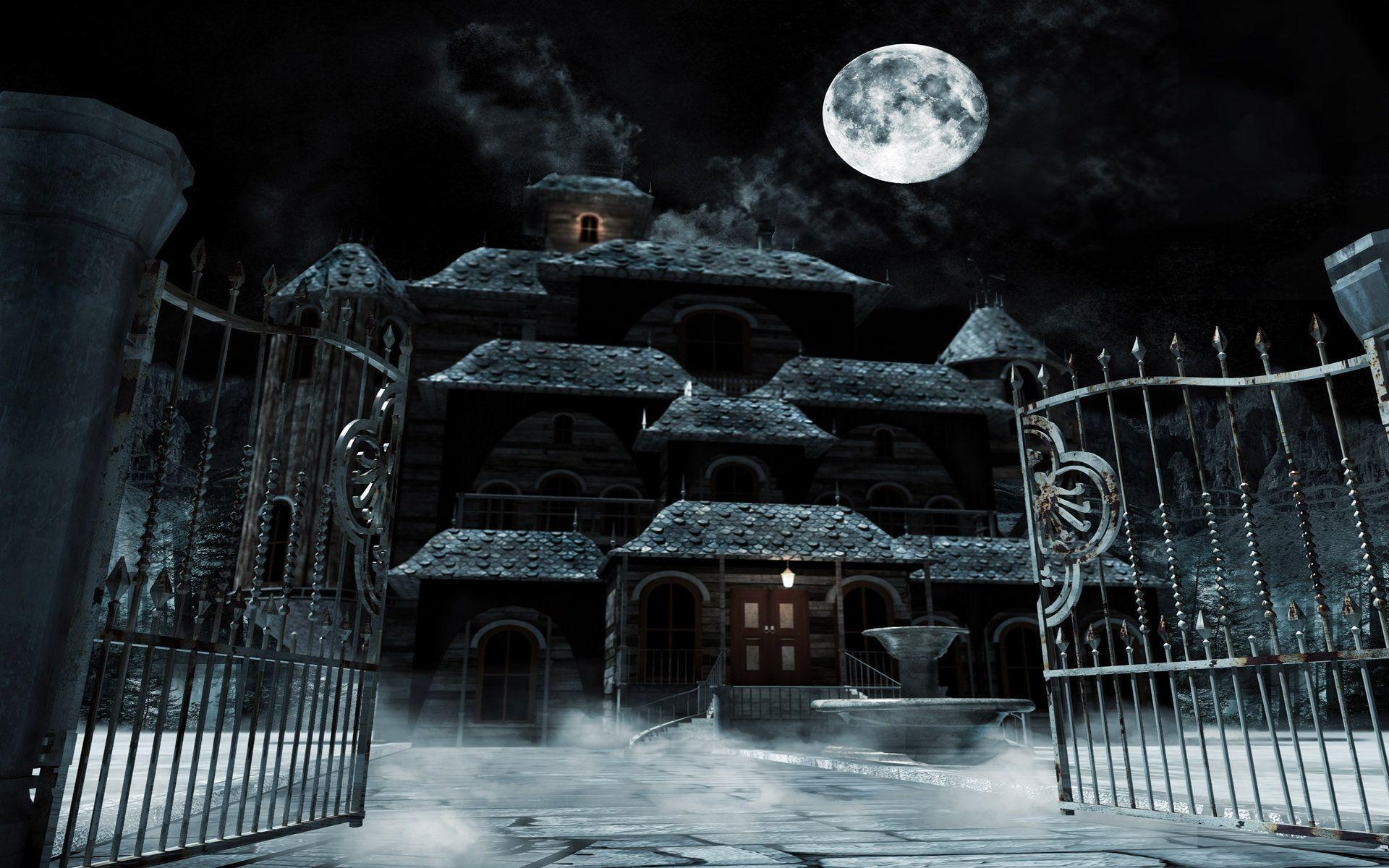 Haunted house wallpapers wallpaper cave for 3d wallpaper of house