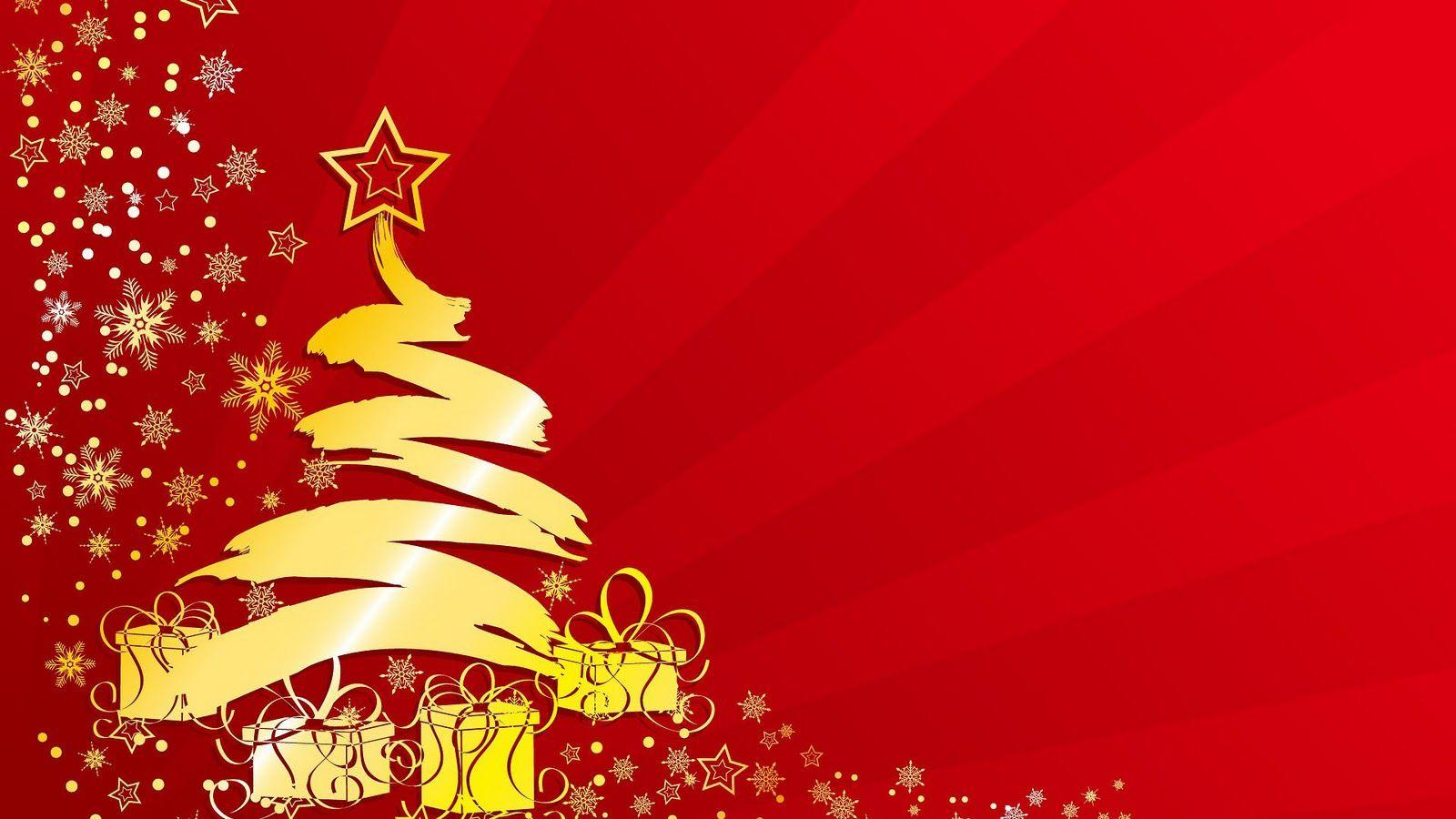Christian christmas desktop wallpapers wallpaper cave for Red and yellow christmas tree