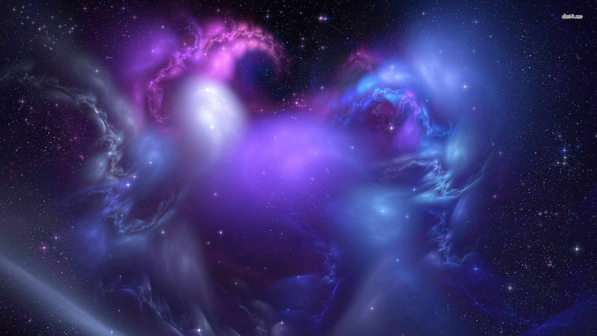 Wallpapers For > Blue And Purple Galaxy Wallpapers